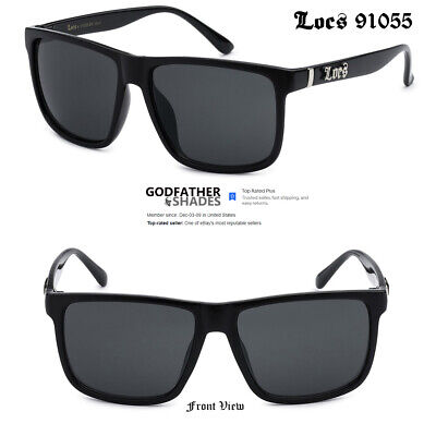 $7.95 • Buy LOCS 91055 Black Sunglasses | Authentic Gangster Oversized Flat Top Men's Shades