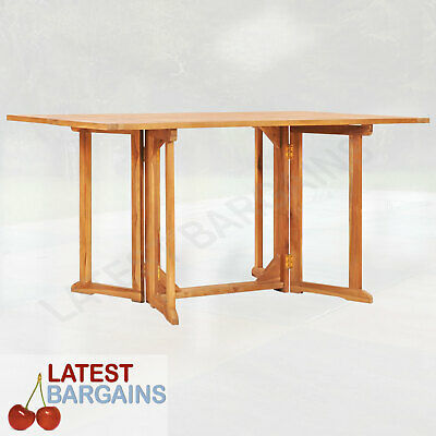 AU241.31 • Buy Wooden Folding Butterfly Outdoor Dining Table Patio Timber 150cm
