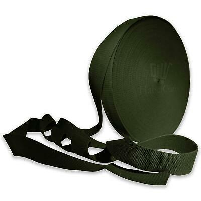 Olive Green 38mm Cotton Webbing Tape Strapping 1.5 Inch Belt Strap Bag Making  • 11.99£