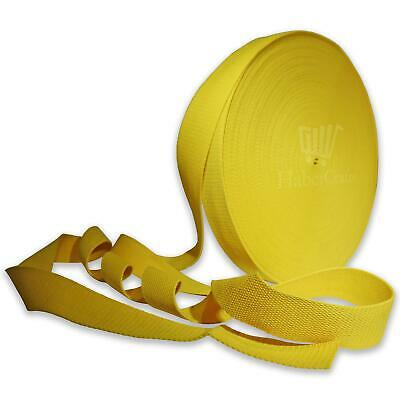 Yellow 38mm Cotton Webbing Tape Strapping 1.5 Inch Belt Strap Bag Making Apron • 6.49£