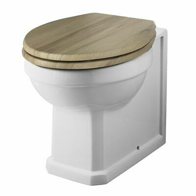 £139.99 • Buy Traditional White Ceramic Back To Wall Toilet WC Pan With Choice Of Wooden Seat
