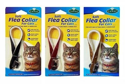 Comfortable Cat & Kitten Flea Collar With Elastic Safety Link And Bell  • 3.47£