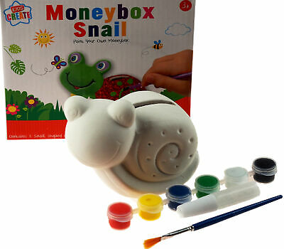 £9.99 • Buy Paint Your Own Animal Money Box  / Craft Kit Toy - Snail