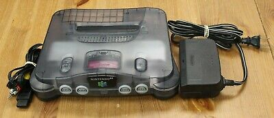 $ CDN249.99 • Buy Nintendo 64 N64 Smoke Grey Clear Console + Cables, No Controller TESTED WORKING