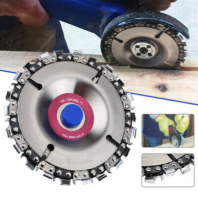 4'' Angle Grinder Cutting Disc 22 Tooth Chain Saw For Wood Carving Plastics Tool • 6.99£