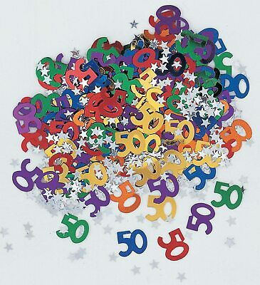14g 50th Multi Coloured Table Scatters Confetti Adults 50 Birthday Party Decor • 2.19£