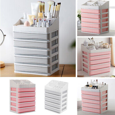 £8.95 • Buy Cosmetic Storage Box Organizer Makeup Case Holder Drawers Display 5 Tiers Stand