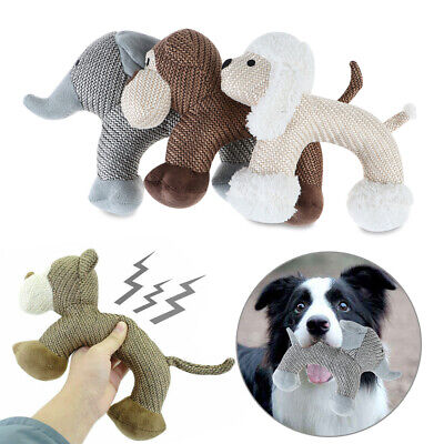 Chew Toys Interactive For Dog Indestructible Stuffed Squeaky Sound Toy Squeaker~ • 4.81£