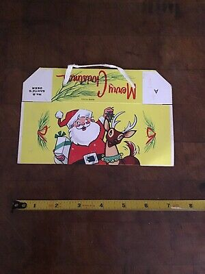 $ CDN12.62 • Buy Vintage Christmas Santa Claus Holiday Greetings Candy Container Box USA