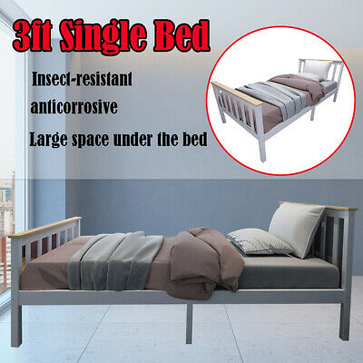 3ft Single Bed Solid Wooden Bed Frame For Adult Children Fits 190*90cm Mattress • 51.99£