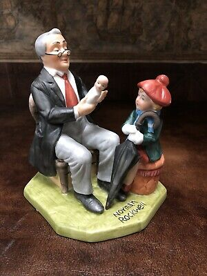 $59.99 • Buy Vintage 1981 Norman Rockwell  The Doctor And The Doll  Figurine Limited Edition