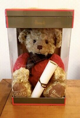 Harrods  Christmas Teddy Bear 20th Anniversary Box Certificate 2005 LTD Ed RARE • 99£