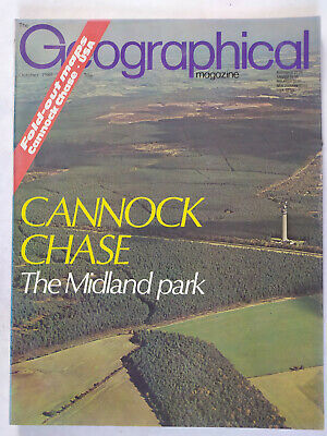 The Geographical Magazine October 1980 Cannock Chase With Fold Out Map • 4.49£