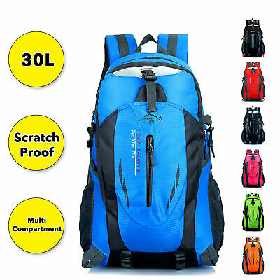 AU27.99 • Buy Waterproof Hiking Camping Bag 30L Large Travel Backpack Outdoor Luggage Rucksack