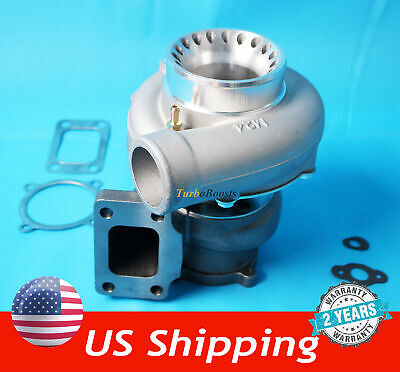 $187 • Buy T3 Flange 4 Bolt GT35 GT3582 A/R .70 Anti-Surge Turbo Charger Universal 600+HP