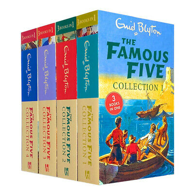 The Famous Five 12 Titles In 4 Books Collection Set For Children By Enid Blyton • 14.99£