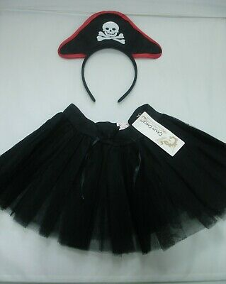 Childrens Pirate Fancy Dress Pirate Headband Tutu Costume Girls Boys Kids • 3.19£