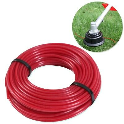 15M X 3MM STRIMMER LINE Thick Red Nylon Refill Cord Heavy Duty Petrol Trimmer • 6.66£