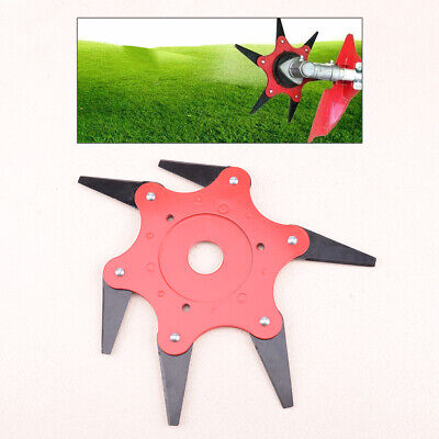 AU18.39 • Buy Trimmer Head Cutter 6 Steel Blades Razors 65Mn Lawn Mower Grass Weed Eater Brush