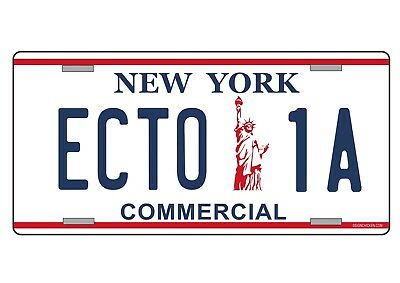 GHOSTBUSTERS License Number Plate, 'ECTO 1A', Metal (2) • 7.45£