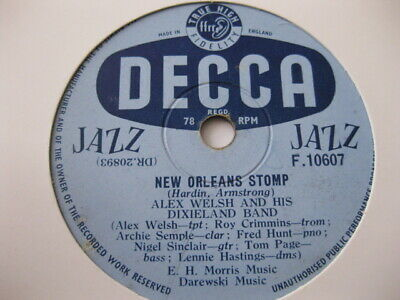Alex Welsh Dixieland Band New Orleans Stomp / As Long As I Live Decca F10607 • 2.99£