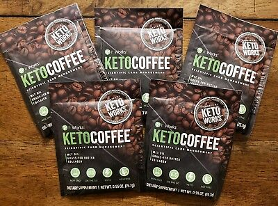 $20.95 • Buy It Works! Keto Coffee 5 Single Serve Packets Carb Management NEW!