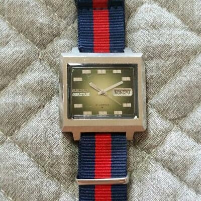 $ CDN347.84 • Buy SEIKO Automatic 5ACTUS 31 JEWELS Men's Square Watch Date Display Vintage Working