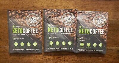 $13.95 • Buy It Works! Keto Coffee 3 Single Serve Packets Carb Management NEW!