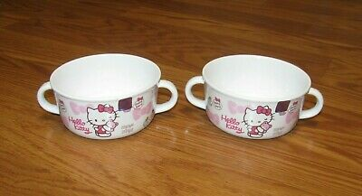 £13.16 • Buy NWOT 2 Plastic Small Bowl Cup Hello Kitty Sanrio 2014 With Sticker On Cups Lot