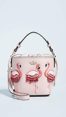 $ CDN201.59 • Buy Kate Spade By The Pool Flamingo Pippa Drawstring Satchel Crossbody Bag Purse