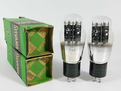 $ CDN659.10 • Buy Sylvania 2A3 Black Plate Vintage Vacuum Tube NOS Pair (matched, TV-7D Tested)