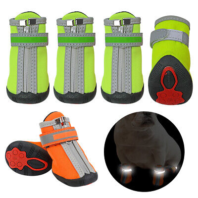 £12.54 • Buy Waterproof Dog Shoes Snow Rain Boots Rubber Non-Slip Reflective Paw Protector