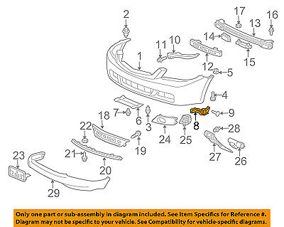 $22.66 • Buy Acura HONDA OEM 04-08 TSX Front Bumper-Spacer Support Bracket Right 71193SEA003