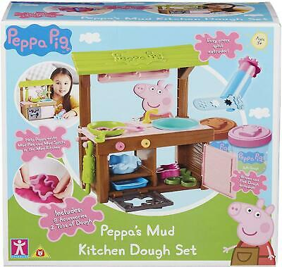 Peppa Pig Mud Kitchen Dough Set, Multi-Colour,Shape, Roll And Mould • 23.89£