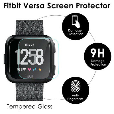 $ CDN6.07 • Buy Anti-Scratch Tempered Glass Screen Protector Film For Fitbit Versa Smart Watch
