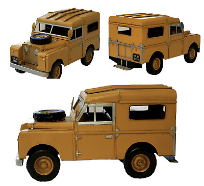 1964 Land Rover Civil Defence Land Rover Defender Tin Plate Model Ornament • 34.95£