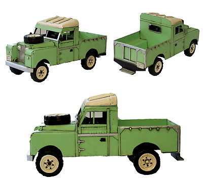 Tin Plate Land Rover 1958-1961 Series Ll Land Rover Pickup Model Ornament • 34.95£