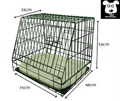 £51.95 • Buy Folding Metal 30 Sloping Car Cage For Dogs Puppy Crate With Super Soft Bed Liner