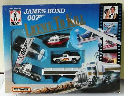 Matchbox James Bond License To Kill Set - 4 Vehicles - Tanker Plane Copter Jeep • 32£