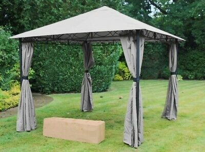 £275 • Buy Mendoza No-Tool Gazebo - 3m X 3m Steel Frame Tool Free Assembly Fast Delivery