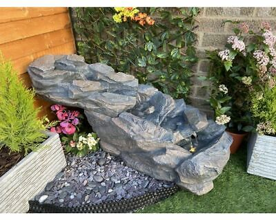 Compact Slate Cascade Rock  Water Feature  Garden Feature, Outdoor Water Feature • 324.99£