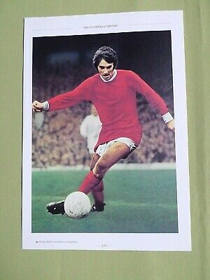 George Best Manchester United  Player-1 Page Picture- Clipping/cutting • 1.99£