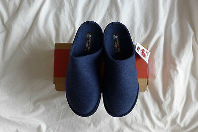 Haflinger Flair Soft Blue Slippers, Size 45 - Brand New With Box • 39£