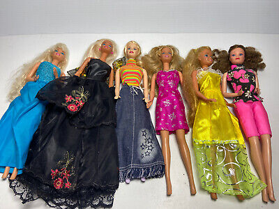$ CDN54.42 • Buy LOT Of 6 Vintage 1966 BARBIE DOLLS With Outfits Twist And Turn Body's