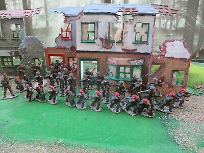 Vintage  Airfix 1/32  Ww2 British Paratroops Red Devils Well Painted Wargaming- • 30£