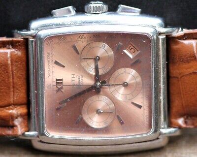 $1850 • Buy ZENITH SS  El Primero  Automatic Chronograph Rectangular W/Rare Copper Dial
