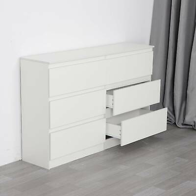 White Chest Of Drawers Bedroom Furniture Hallway Tall Wide Storage Draws • 99.99£