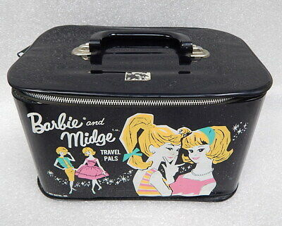 $ CDN54.29 • Buy CLEAN Vintage Barbie And Midge Travel Pals Doll Case Mattel 1963 Black