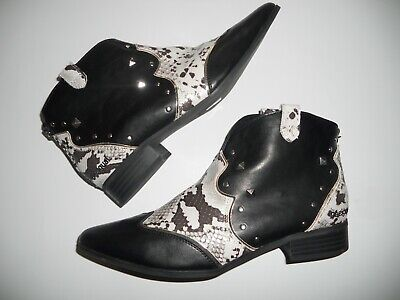 £38 • Buy Desigual Leather Boots - Style Country Cowboy Black 7/41 Brand New No Box