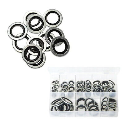 £1.95 • Buy BSP Dowty Washer / Bonded Seals Imperial Black Nitrile Steel Self Centralising